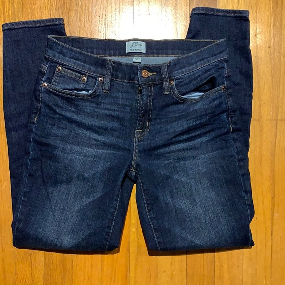 J Crew Toothpick Ankle Jeans size 28